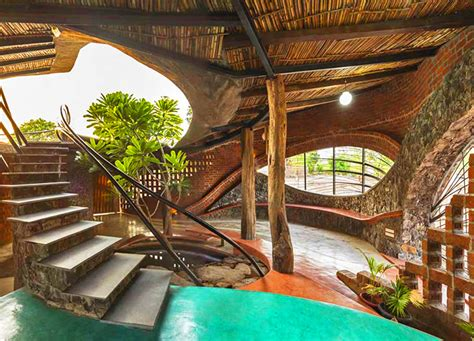Curvaceous Brick House Uses Passive Cooling And Local