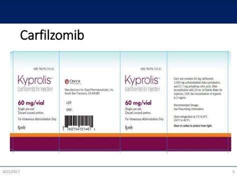 carfilzomib  multiple myeloma