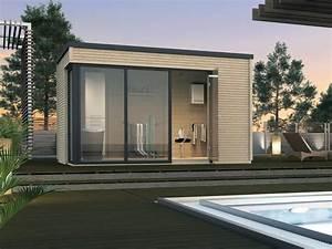 Gartenhaus Mit Glasfront : gartenhaus weka cubilis flachdach haus mit gro er fenster glasfront ideales poolhaus ideen ~ Markanthonyermac.com Haus und Dekorationen