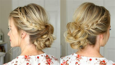 Lace Braid Homecoming Updo