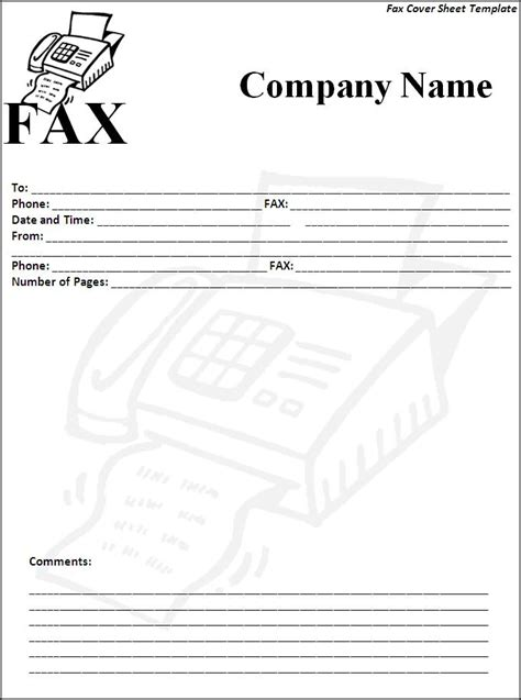 fax cover sheet template free 6 fax cover sheet templates excel pdf formats