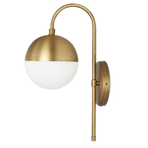 pool modern classic brass frosted globe wall sconce kathy