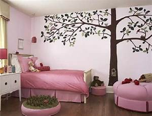 Bedroom wall design ideas pink paint bedroom wall design for Wall painting designs for bedroom