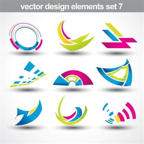 Abstract Shapes Free Vector by Abstract Shapes Set 7 Vector Free