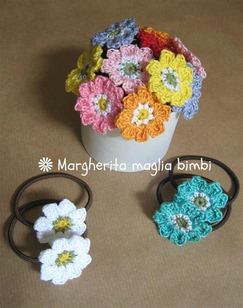 fiori di cotone all uncinetto elastico per capelli con fiore in cotone fatto a mano all
