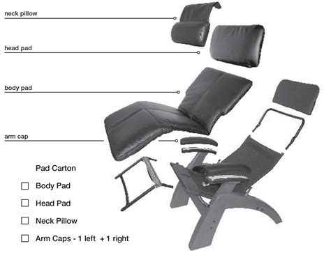 new chair zero anti gravity recliner pad set only