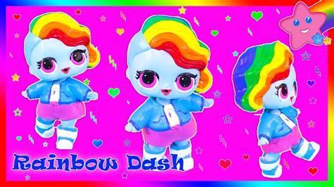 diy rainbow dash custom lol surprise doll youtube