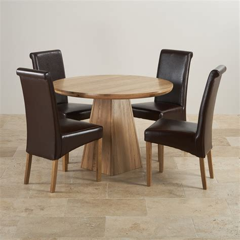 3 foot round table provence solid oak 3ft 7 quot dining table with 4 brown chairs