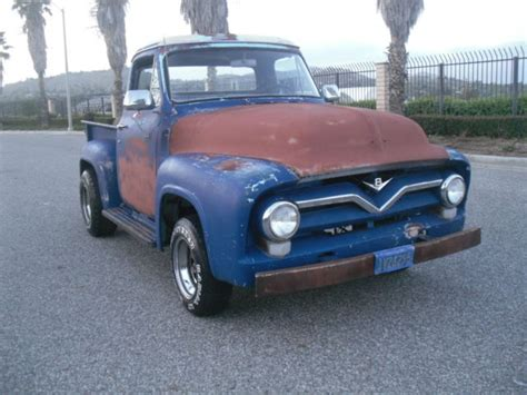 ford f 100 cab chassis 1955 blue white black for sale 1955 ford f100 up 1955 ford