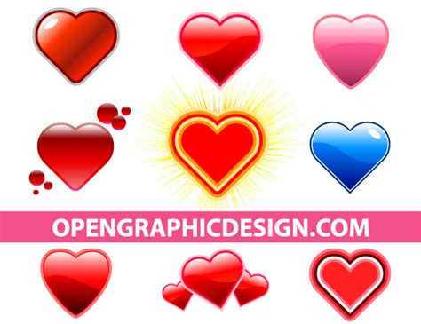 heart graphics  valentines day dtp projects