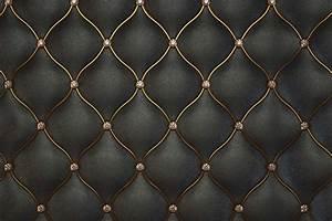 Luxurious Black Leather Pattern Textured Wallpaper-Walls