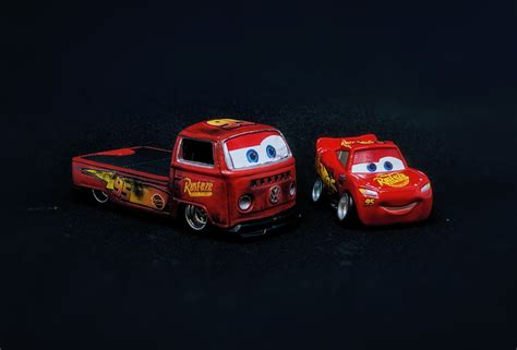 lightning mcqueen cars decals custom hot wheels