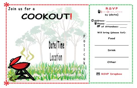 images  cookout templates  word