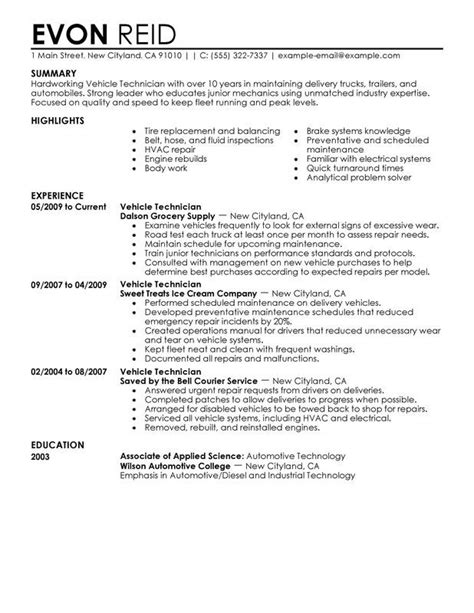 Diesel Mechanic Resume Exles by Auto Mechanic Resume Sle Beauteous Ase Master Certified
