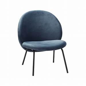 Fauteuil Velours Bleu : fauteuil velours bleu h bsch dod la boutique atelier ~ Teatrodelosmanantiales.com Idées de Décoration