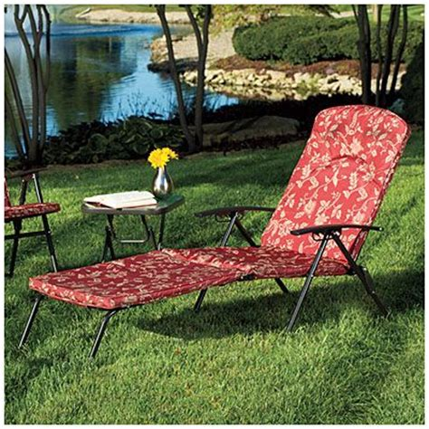 wilson fisher 174 folding padded chaise lounge chair at big