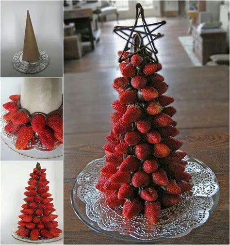 strawberry christmas tree desserts sweets pinterest