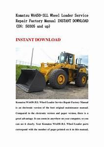 Komatsu Wa450 3 Ll Wheel Loader Service Repair Factory