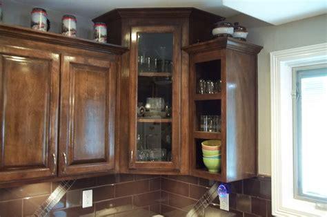 Corner Cabinet With Glass Doors   HomesFeed