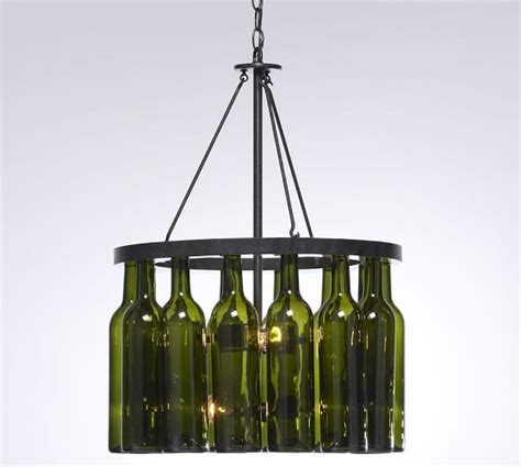 wine bottle chandelier pottery barn