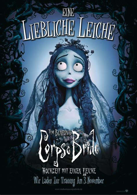 filmplakat tim burtons corpse bride hochzeit mit einer