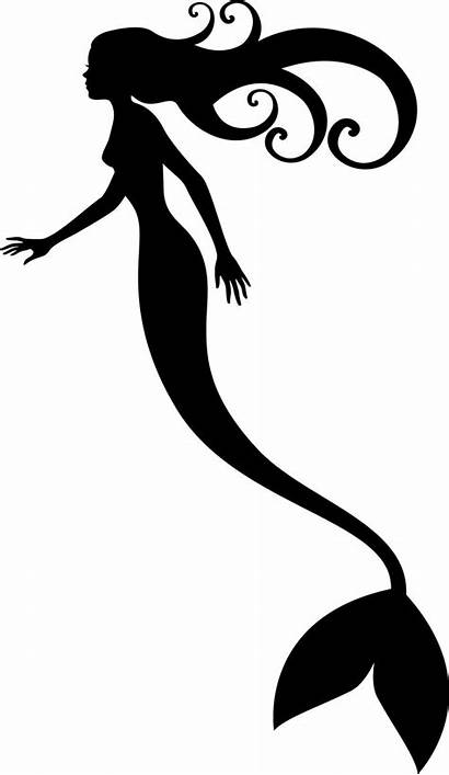 Mermaid Tail Outline Clipart Silhouette Clipground