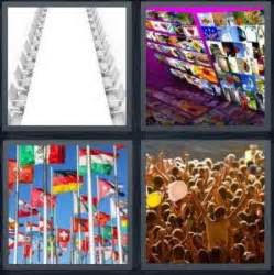 4 pics 6 letters 4 pics 1 word answer for seats photos flags crowd 41477