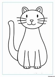 Printable Cat Coloring Pages For Kids Printable Coloring