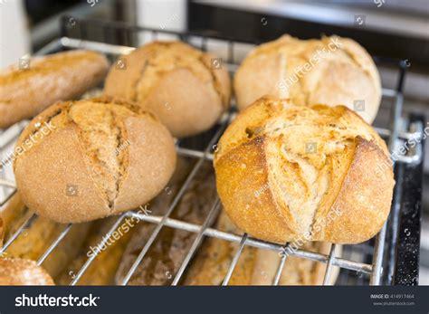 round table gluten free gluten free round bread loafs made stock photo 414917464
