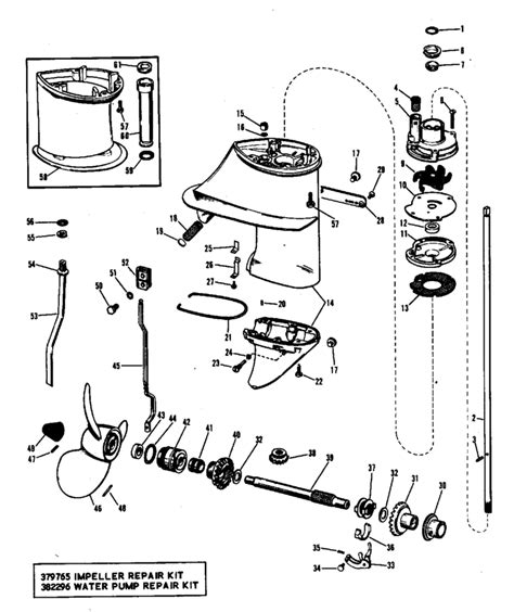 1973 Evinrude 6 5 Hp Wiring Diagram by Evinrude Gearcase Parts For 1968 9 5hp 9822e