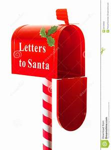 Christmas letter box to santa royalty free stock images for Santa letter box