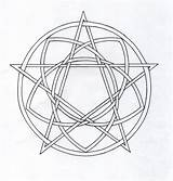 Pentagram Coloring Pentacle Template Celtic Writing Pages Deviantart sketch template