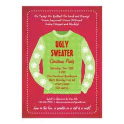 ugly sweater holiday party invitation zazzle