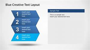 Blue Creative Text Layout For Powerpoint