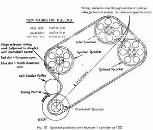 service manual how set cam timing marks 1997 lotus esprit With cam timing belt