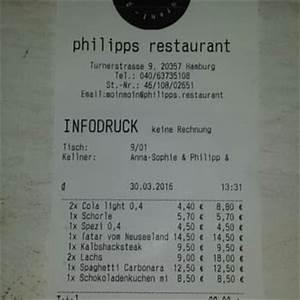 Restaurant Rechnung : philipps restaurant 51 fotos 19 beitr ge deutsch turnerstr 9 karolinenviertel hamburg ~ Themetempest.com Abrechnung