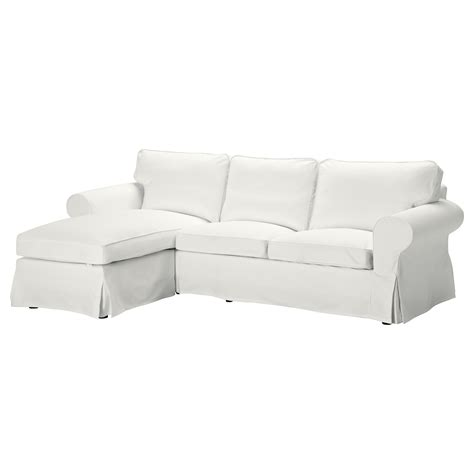 ikéa chaises ektorp two seat sofa and chaise longue blekinge white ikea