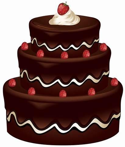 Cake Clipart Clip Cakes Chocolate Birthday Pies