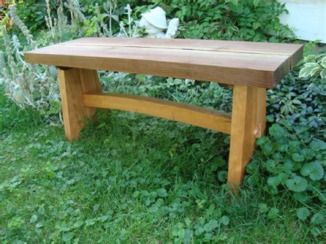 handmade live edge asian style garden bench by uncommon