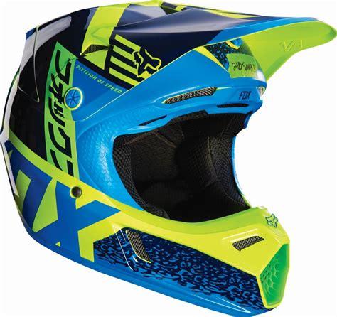 new motocross helmets fox racing new 2016 youth v3 divizion blue green motocross