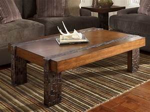 Coffee table inspiring rustic square coffee table design for Rustic dark brown coffee table