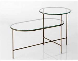 Table Basse Metal Verre : table basse plateaux en verre double m tal dor amadeus ~ Mglfilm.com Idées de Décoration