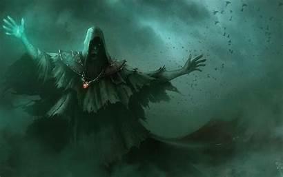 Sorcerer Fantasy Wallpapers Wizard Necromancer Background Mage