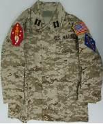 Kids Desert Digital Camo BDU Jacket with Marine Patches Sew On  Marine Camo Uniform