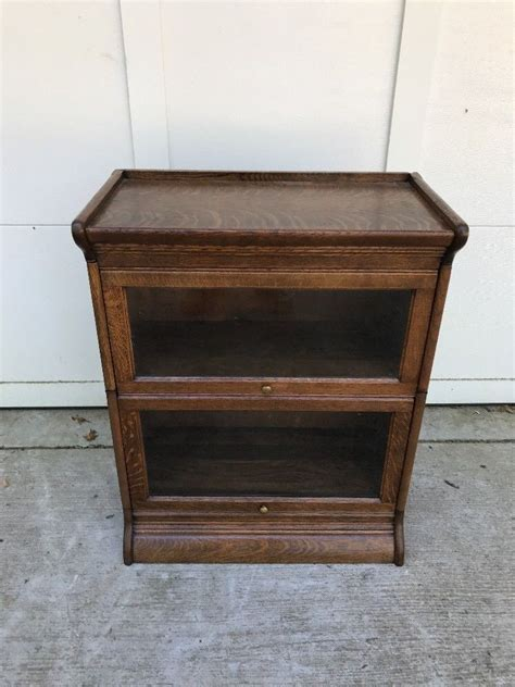 barrister bookcase for sale 3 4 wide 25 inch antique lawyer barrister bookcase