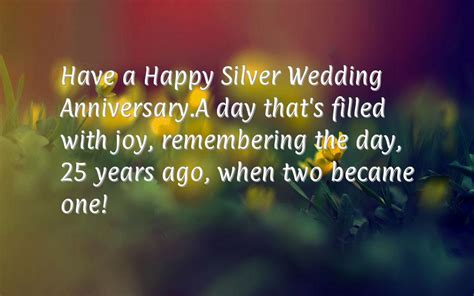 wedding wishes congratulations 25th happy anniversary silver wedding cards for