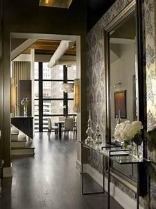 Beautiful, Entryway, Large, Mirror, Console, Dark, Wood