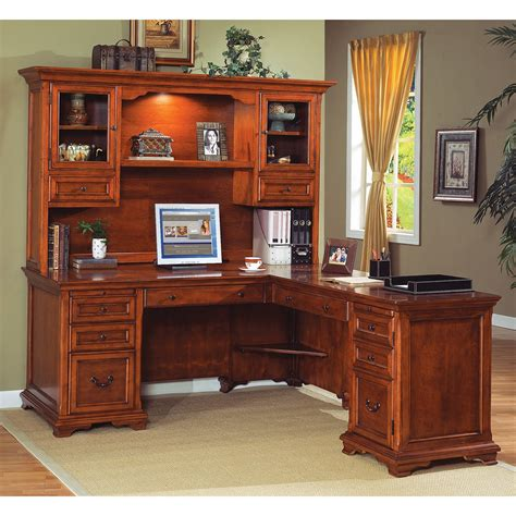 Desk With Hutch by Furniture L Shaped Desk With Hutch For More Efficient