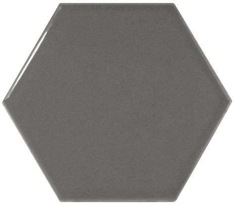 Orton Dark Grey Hexagon Wall Tile   FYLDE TILES