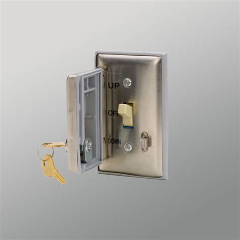 lockable light switch cover controls for electric screens draper inc